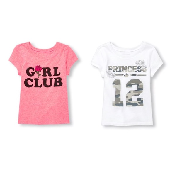61b0f41d3 The Children's Place Shirts & Tops | Bundle Of 2 Girls Graphic Tee ...